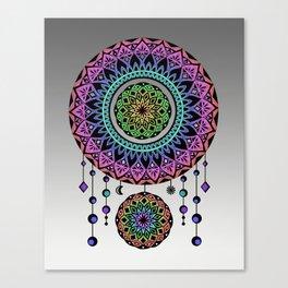 Rainbow Mandala Dream Catcher Canvas Print