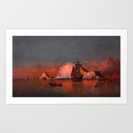 Fishing off the coast of Labrador by William Bradford - Hudson River School Vintage Painting Art Print