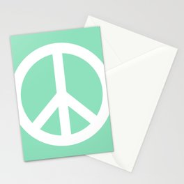 Peace (White & Mint) Stationery Cards