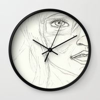 glasses Wall Clocks featuring Glasses by writingoverashes