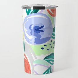 Flowers red pattern Travel Mug
