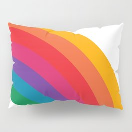 Retro Bright Rainbow - Right Side Pillow Sham