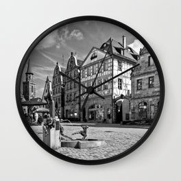 The Green Market Wall Clock
