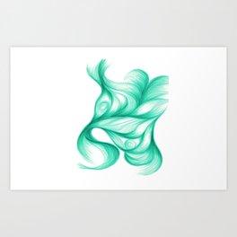 Azurite Singularis Art Print