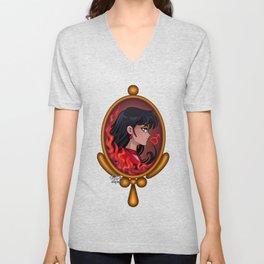 Sailor Mars - Art Nouveau Cameo Jewel Unisex V-Neck