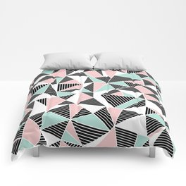 AbLines with Blush Mint Blocks Comforters