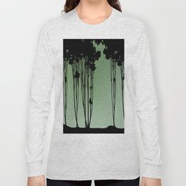 Forest Silhouette by Seasons K Designs Long Sleeve T-shirt
