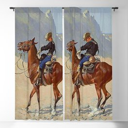 "Frederic Remington Western Art ""The Advance Guard"" Blackout Curtain"