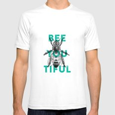 Bee-you-tiful SMALL White Mens Fitted Tee