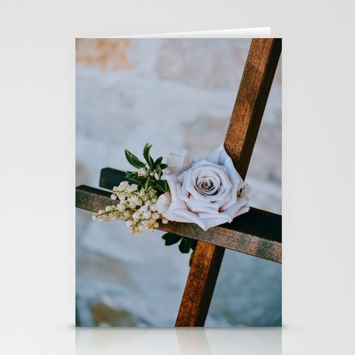 Rose on the Cross (Color) Stationery Cards