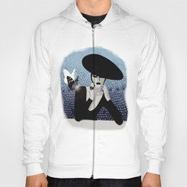 butterfly and woman Hoody