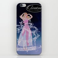 cocaine iPhone & iPod Skins featuring Cinderella Cocaine Attitude by Trash Apparel