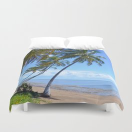 Palm trees and sea. Duvet Cover