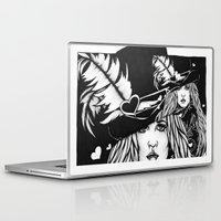 stevie nicks Laptop & iPad Skins featuring Blacklights Stevie by Lynette K.