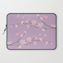Cherry Blossom - Pale Purple Laptop Sleeve