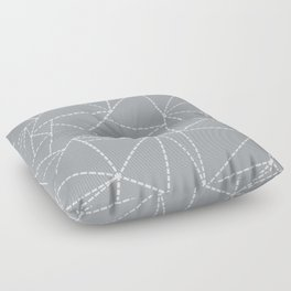 Abstract Dotted Lines Grey Floor Pillow