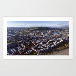 Swansea City Art Print