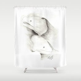 Moray Eels Sketch Shower Curtain