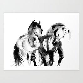 Horses (Dos Caballos) Art Print