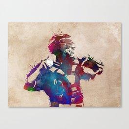 Baseball player 1 #baseball #sport Canvas Print