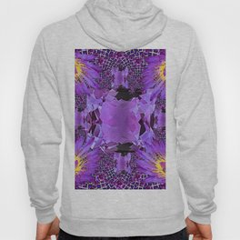 EXOTIC AMETHYST FEBRUARY  FLORAL FANTASY  ABSTRACT Hoody