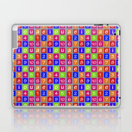 Numbers and Vowels Colorful Pattern Laptop & iPad Skin