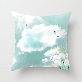 look at the sky Throw Pillow