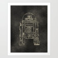 r2d2 Art Prints featuring R2D2 by LindseyCowley