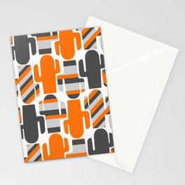 Modern striped cacti Stationery Cards