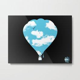 sky balloon Metal Print