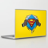 dwight Laptop & iPad Skins featuring Superman  by Wave Sports