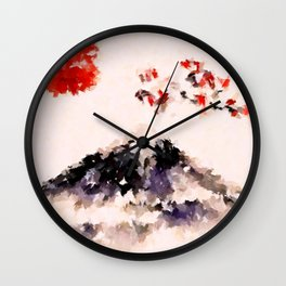 Sakura Fuji Wall Clock