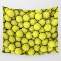 tennis Wall Tapestries featuring Tennis balls by GrandeDuc