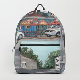 The Scotty Dog Beverly Massachusetts One Way Street Scene Backpack