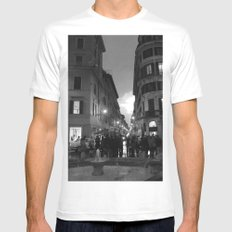 As Day Fades MEDIUM White Mens Fitted Tee