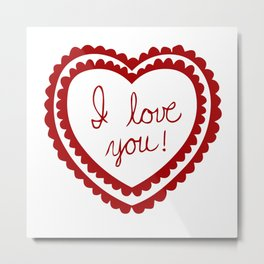 I love you heart Metal Print
