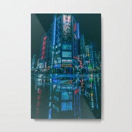 Kabukicho Reflections Eternal Metal Print