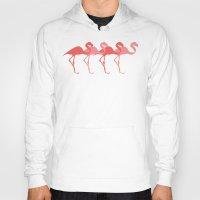 flamingos Hoodies featuring Flamingos by Dana Martin