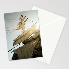 Tall Ship in Boston Harbor Stationery Cards