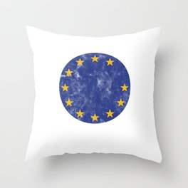 EU European Union UK Great Britain Brexit European Commission Flag Brexiting Throw Pillow