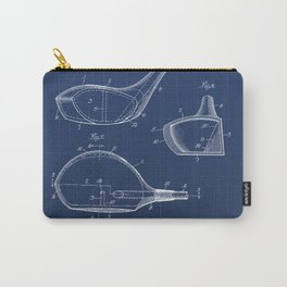 Golf Club Vintage Patent Hand Drawing Carry-All Pouch