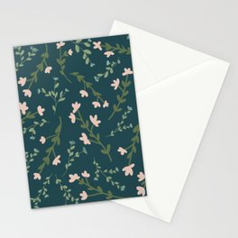 Moody Floral Pattern Stationery Cards
