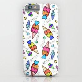 Bright Colors Ice Cream Pattern iPhone Case