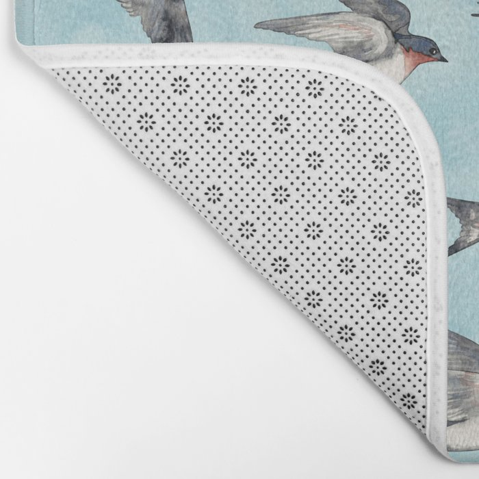 Blue Sky Swallow Flight Bath Mat