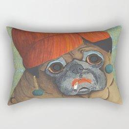 Joan the Pug Rectangular Pillow