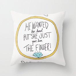 Ring Finger Throw Pillow