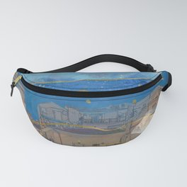 Cities under the Water - Surreal Climate Change Fanny Pack