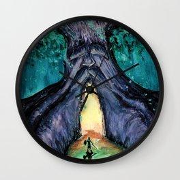 Great Deku Tree Fan Art Painting Wall Clock
