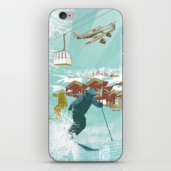 ski lift iPhone & iPod Skin