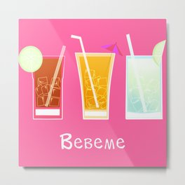 Latino drinks Metal Print